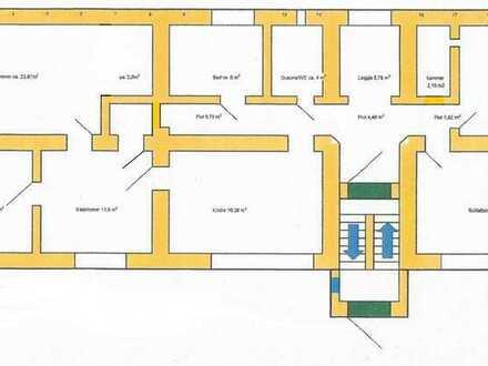 Geräumige 5 Zimmerwohnung, Sauna, Stellplatz