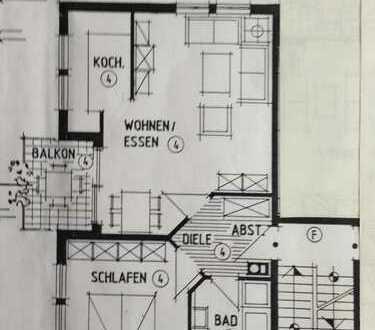 Gepflegte 2-Zimmer-Wohnung mit Balkon und Einbauküche in Eberbach Stadtteil Neckarwimmersbach