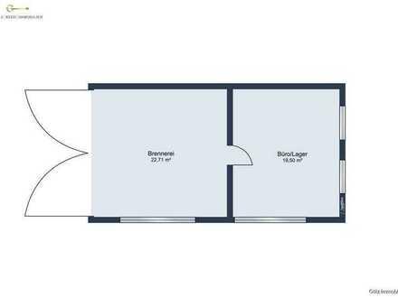 Beheizter Lagerraum/Verkaufsraum mit Brennrecht und Destillerie  zu vermieten!