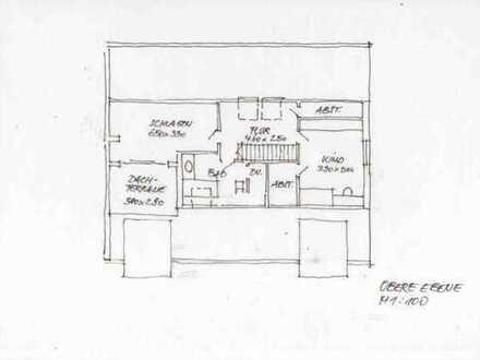 Außergewöhnliche große 3-Raumwohnung auf 2 Ebenen