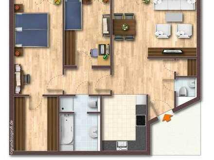 Attraktive 3-Zimmer-Wohnung, barrierefrei , mit TG-Stellplatz