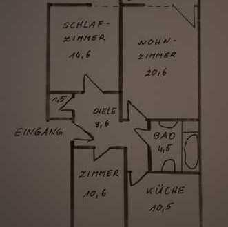 Traumhaft ruhige 3-Zimmer-Wohnung mit S-Loggia Nähe Westkreuz, München