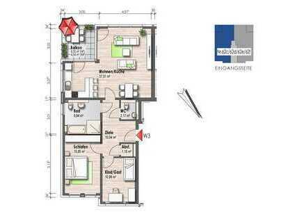Obergeschosswohnung mit Balkon (Nr. 3)