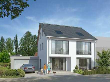 Vollunterkellerte Neubau-Doppelhaushälfte mit Doppelgarage in ruhiger Lage