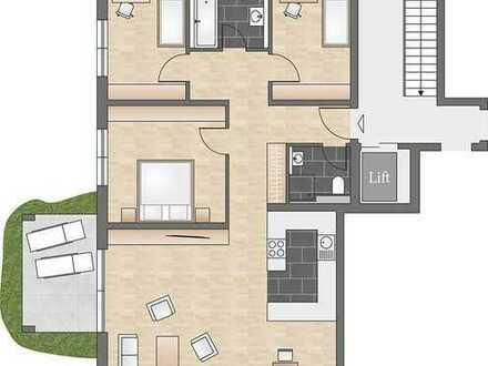 Großzügige 4-Zimmer-Neubauwohnung mit eigenem Garten