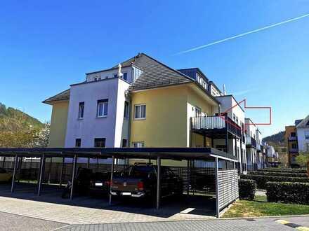 Sonnige und gut geschnittene 2-Zi-ETW mit Balkon, Blick und Carport!