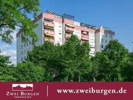 Penthouse-Eigentumswohnung mit Fernblick und 120 m² Terrasse