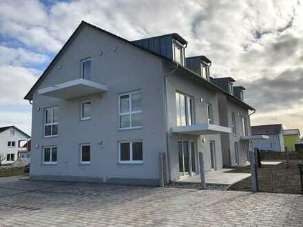 +++ NEUBAU in Nordendorf: Große 3-ZKB-Wohnung im 1.OG mit Westbalkon zur Miete +++