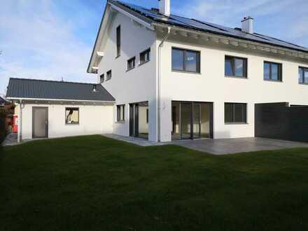 Neue 5-Zimmer-Doppelhaushälfte + Dachstudio