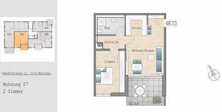 Tolle 2-Zimmer-Wohnung mit Südbalkon