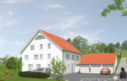 ** Neubau-Erdgeschosswohnung mit zwei Terrassen und ca. 220m² Grundstücksanteil...