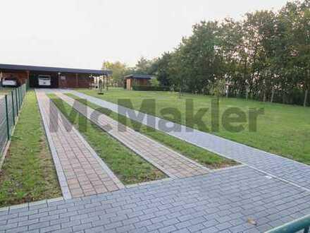 Großzügiges, idyllisch gelegenes Grundstück mit Carport und Schuppen in Diedersdorf