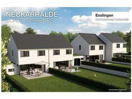 "NECKARHALDE ""sonst nirgends"" - Doppelhaushälften Esslingen, Stahlackerweg"