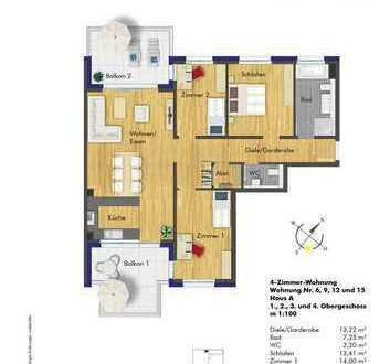 traumhafte 4 Zimmerwohnung im 1. Obergeschoss (A6)