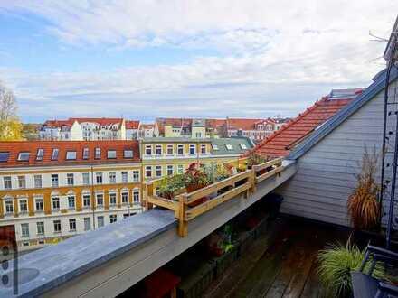 Bezugsfreie, erstklassig geschnittene 3 Zimmer- Wohnung mit Dachterrasse in Kleinzschocher!