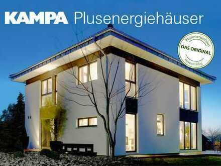 Energie Plus Haus sucht glückliche Familie
