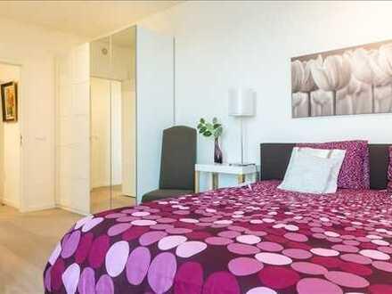 Modern möbliertes Zimmer