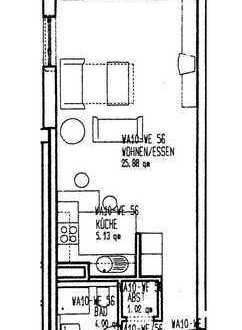 Gepflegte 1-Zimmer-Wohnung mit Balkon und Einbauküche in Nürnberg