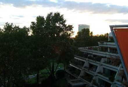 Exklusive, gepflegte 3-Zimmer-Terassenwohnung mit Blick auf den Neckar und EBK in Mannheim