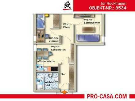 Schicke 59 m² - 3 Zimmer Dachgeschoss-Wohnung! Schnäppchen für Selbstnutzer oder Kapitalanleger!