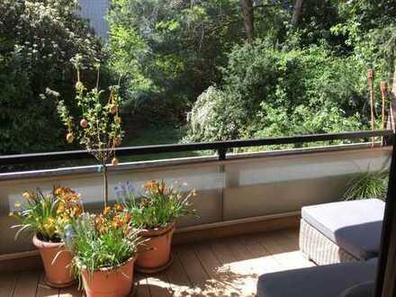 GOLZHEIM, stilvolle 5-Zi-Maisonette-Wohnung mit Loggia, EBK, Garage und Kamin