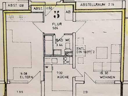 Gepflegte 2-Zimmer-Wohnung mit Balkon und Einbauküche in Nuernberg