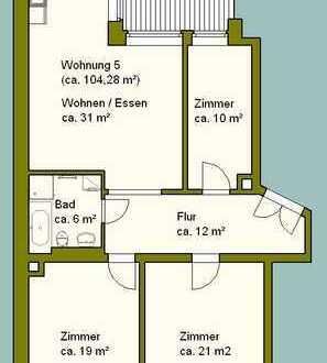 4 Räume mit Balkon im Zentrum-Nord