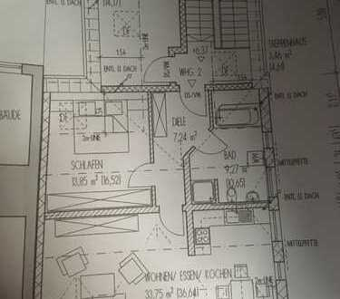 Gepflegte 3-Zimmer-Dachgeschosswohnung mit EBK in Wallersdorf
