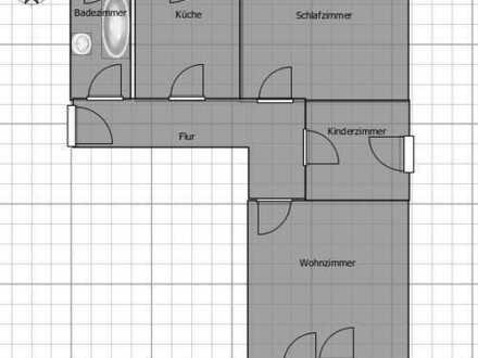 Gepflegte 3-Zimmer-Wohnung mit Balkon in Landshut, Rennweg