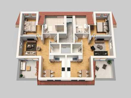 Sonnige Dachterrasse und Fahrstuhl