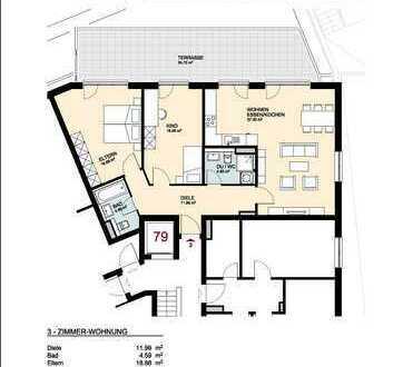 Neubauwohnung mit großer Terrasse in provinzieller und doch zentraler Lage in Bonn-Lengsdorf