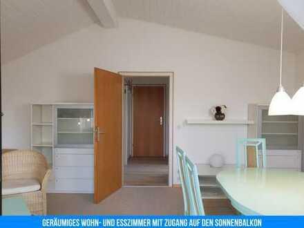 Vollst. renovierte & möblierte 2-Zimmer-Wohnung mit Balkon und Einbauküche + großzügige Lagerflächen