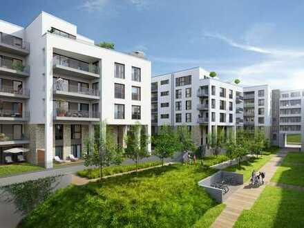 Traumhafte 3-Raum-Geschoss-Wohnung mit Parkett, Terrasse und Gäste-WC
