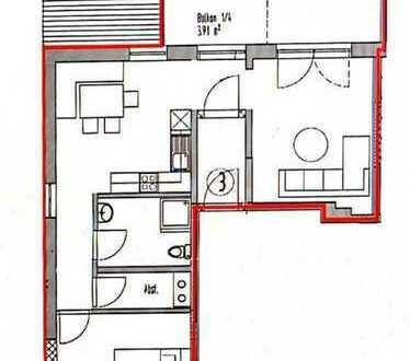 Attraktive 2-Zimmer-Wohnung mit Balkon und Einbauküche in WEIL