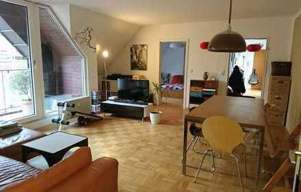 Korschenbroich-Zentrum! 4 Zi.-Whg mit Loggia & Dachterrasse zu Vermieten!!