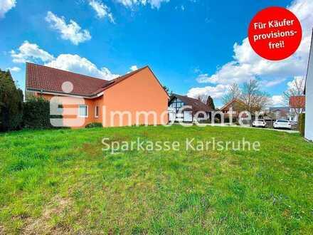 Seltene Gelegenheit! Baugrundstück für ein Ein-Zweifamilienhaus in toller Lage in Ettlingen-Spessart