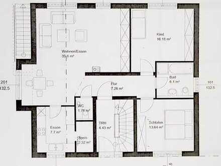 Gepflegte 3,5-Zimmer EG-Wohnung m. Terrasse, EBK, Keller, Stellpl. in Brackenheim