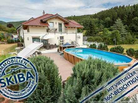 Luxuriöses Haus mit Pool und Ausblick auf die Eifelwälder in Gilgenbach bei Adenau