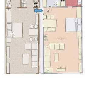 Modernisierte 2-Zimmer-Erdgeschosswohnung mit Balkon und EBK in Bergün
