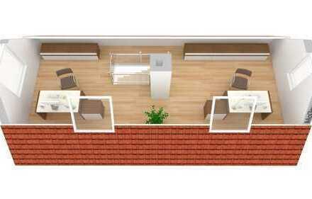 lichtdurchflutete Dachgeschosswohnung mit Spitzboden