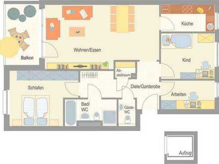 Erstbezug - großzügige 4,5 Zimmer Wohnung mit Westbalkon!