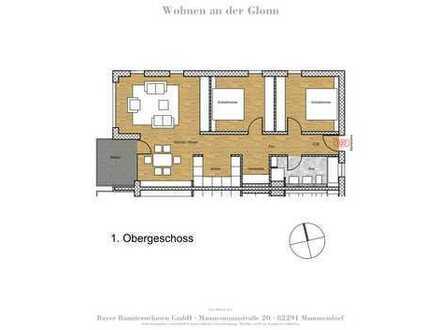 Einzug ab 01.11.2019 - Besichtigung nach Absprache - 3-Zimmer Wohnung im 1.OG