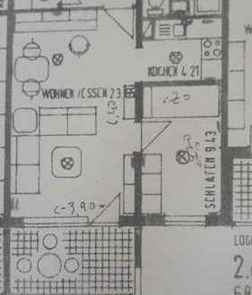 Schöne 1,5-Zimmer-Wohnung mit Balkon und Einbauküche in Bruchsal