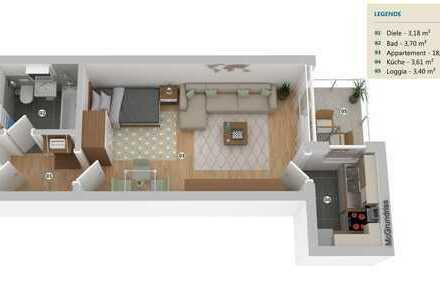 freies 1-Zimmer-Apartment in Schwabing Nähe Nordbad