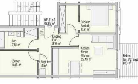 Erstbezug mit EBK und Balkon: exklusive 3-Zimmer-Wohnung in Landshut Bahnhofsnähe