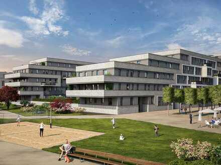 Hochwertige Ausstattung und Blick auf den Rhein: 3-Zimmer-Wohnung mit großem Balkon