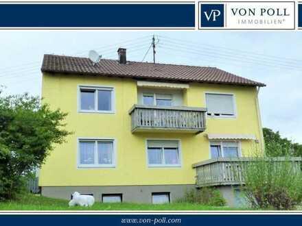 Ein ländliches Idyll: 4-Zimmer-Wohnung mit Balkon und Garten