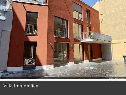 Neubau, Erstbezug: Schicke 4 Zimmer-Wohnung mit ca. 30 m² sonniger Terrasse in Mainz-City, Nähe Hbf