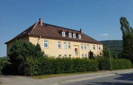 5-Raumwohnung im 1. Obergeschoss mit Balkon, Gemeinschaftsgarten & mega Ausblick