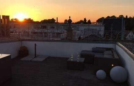 Altbauwohnung mit traumhafter Dachterrasse im Stadtkern von Greven